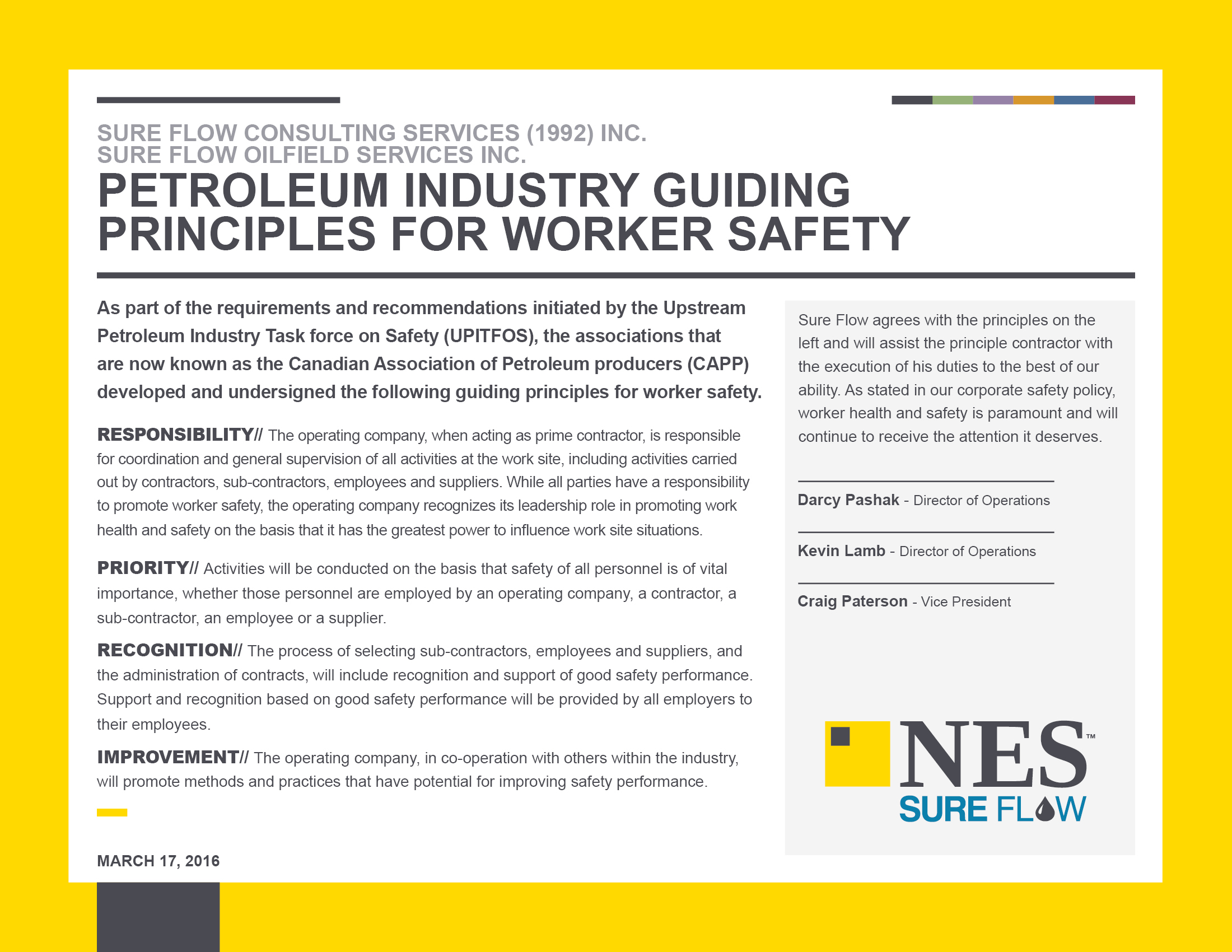 petroleum industry guiding principles for worker safety 2016