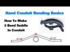 conduit bending guide for electrician