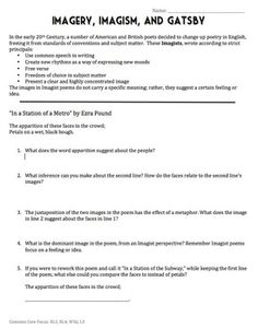 the great gatsby study guide answer key