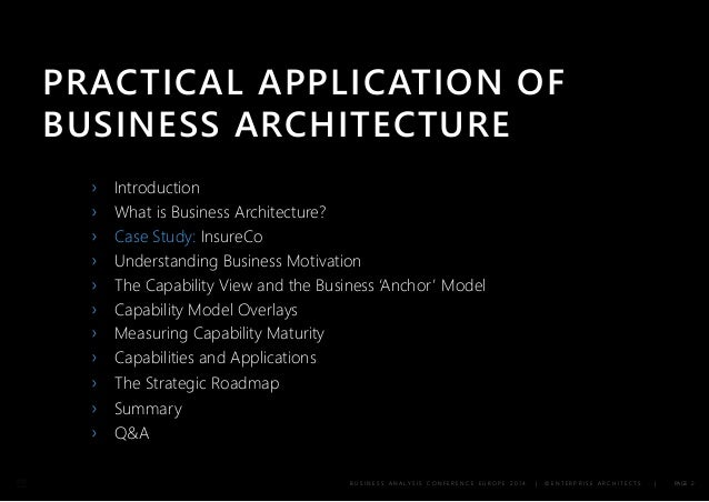 business architecture a practical guide