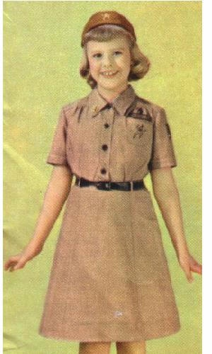 girl guide uniforms through the years