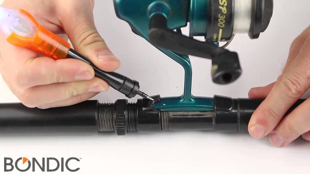 how to fix a broken fishing rod guide